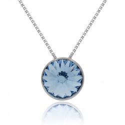Ženski Victoria Cruz Basic M Light Sapphire Lančić Sa Swarovski Plavim Kristalom