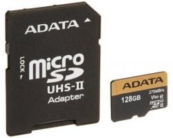 A-Data UHS-II U3 MicroSDXC 128GB class 10 + adapter ( AUSDX128GUII3CL10-CA1 )
