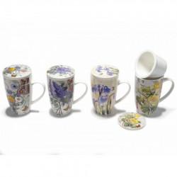 Art from Italy f71.29.19 poklon šolja sa infuzorom i polklopcem porcelan