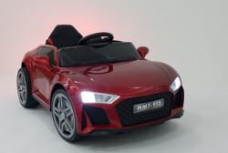 Audi 915 - Crveni Auto na akumulator sa kožnim sedištem i mekim gumama + funkcija ljuljanja