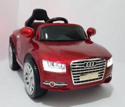 Audi A8 L Auto na akumulator sa kožnim sedištem i mekim gumama - Crveni