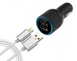 Auto punjač 2USB + kabl za Iphone 1.5m AP005 ( AP005 )