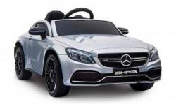 Automobil 246/1 sa kožnim sedištem i mekim gumama za decu - Metalik sivi