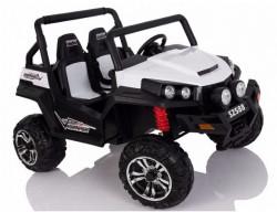 Bagi 305 Dvosed na akumulator sa kožnim sedištima i mekim gumama - Beli