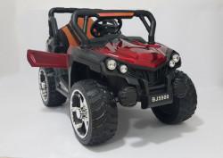 BAGI BJ-5900 - Dečiji Auto na akumulator sa kožnim sedištem i mekim gumama - funkcija ljuljanja - Crveni