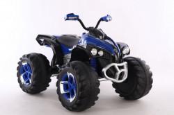 Bagi Kvad Motor na akumulator sa mekim gumama i kožnim sedištem - Plavi