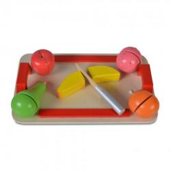 Cangaroo Drvena igračka 4306 daska za sečenje (5 voćki + drveni nož) ( CANW4306 )