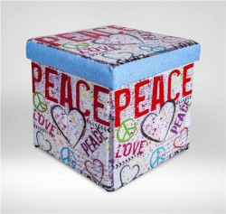 Childream Tabure kutija 36x36x36cm Peace ( 0181305 )