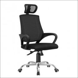 Daktilo stolica C-847T Crna leđa/Crno sedište 630x600x1120(1220) mm ( 755-515 )
