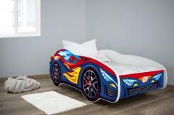 Dečiji krevet 160x80(trkački auto) RED-BLUE CAR ( 7430 )