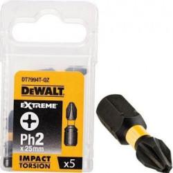 DeWalt DT7994T odvijač PH2/25 torison impact 5kom ( DT7994T )