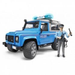 Džip Land rover(plavo sivi) policijski sa policajcem ( 025977 )