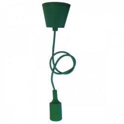 Elit+ silikonska luster visilica sa grlom e27, tamno zelena ( EL9720 )
