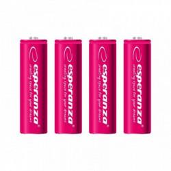 Esperanza EZA104R punjive baterije AA 2000mah 4 kom crvene