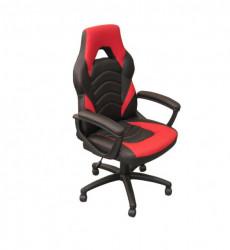 Gejmerska stolica 2326 od eko kože Crveno-Crna