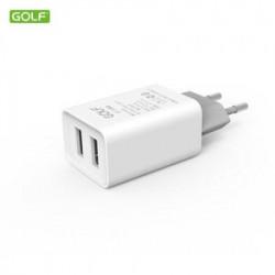 Golf Kućni punjač 2USB beli 2.1A GF-U206 ( 00G72 )