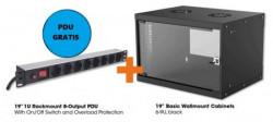 Intellinet LAN ormar zidni 6U560mm 714785+PDU 713986 crni ( 0537110 )