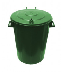 Kanta za smeće 60l Trio okrugla - Zelena