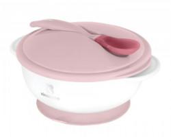 KikkaBoo činija sa termoosetljivom kašičicom pink ( KKB40076 )