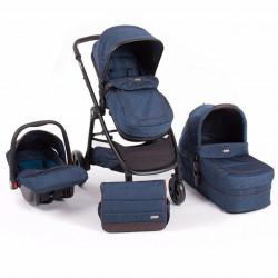 KikkaBoo kolica maui 3in1 set sa autosedištem i tvrdom korpom blue ( KKB80039 )