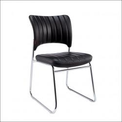 Konferencijska stolica B08-1 od eko kože - Crna