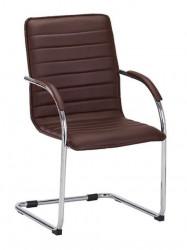 Konferencijska stolica B46 od eko kože - Braon