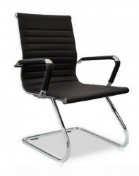 Konferencijska stolica BOB-R CLUB od eko kože - Crna