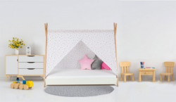 Krevet sa nastrešnicom i dušekom 160x80 TIPI - BELA ( 7719 )