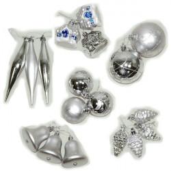 Kuglice 4 vrste - srebrne ( 51-741000 )