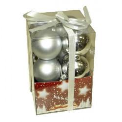 Kuglice za jelku 5cm 12 kom srebrne ( 51-301000 )