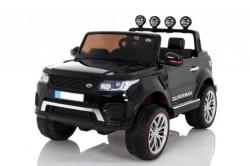 Land Rover Happer 4x4 - Dvosed Auto na akumulator sa kožnim sedištem i mekim gumama - Crni
