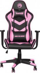 Marvo CH-106 gejmerska stolica crno/roze ( 028-0042 )