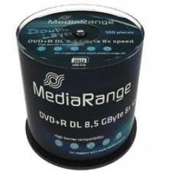 MediaRange MR470 Duble Layer 8.5GB DVD+R DL 8X ( 55YM81+/Z )