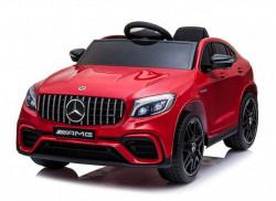 Mercedes 247/1 Licencirani automobil sa kožnim sedištem i mekim gumama - Metalik crveni
