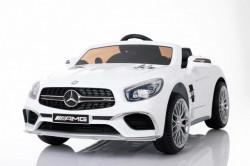 Mercedes Benz SL65 AMG model 259 Licencirani Auto za decu sa kožnim sedištem i mekim gumama - Beli