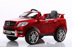 Mercedes ML 350 Licencirani auto na akumulator sa kožnim sedištem i mekim gumama - Crveni