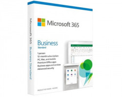 Microsoft 365 Business Standard Ret Eng Sub1YR CEE Only Mdls P6 ( KLQ-00501 )