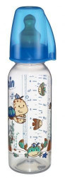 Nip PP flašica Family Boy 250 ml sa kaučuk cuclom za mleko 6+ ( A022321 )