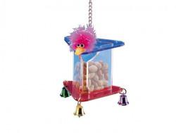 Nobby 31385 Plastična hranilica za ptice sa zvoncima 11x14x14 ( NB31385 )