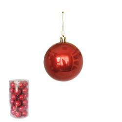Novogodišnje ukrasne kugle 5cm - pakovanje 30 komada - Crvene ( 170525 )