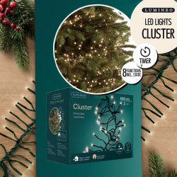 Novogodišnji ukrasi - Rasveta za jelku 3m Toplo Bela 488L Lumineo Cluster ( 494686 )