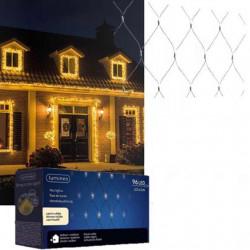 Novogodišnji ukrasi - Spoljašnja novogodišnja LED svetleća mreža 100x130cm Toplo bela Lumineo Icicle ( 494871 )