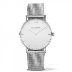 Paul Hewitt Sailor Line Beli Srebrni ručni sat sa srebrnim pancir kaišem