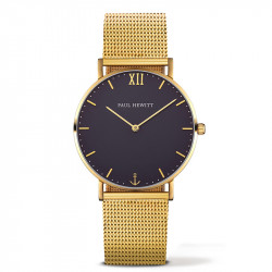 Paul Hewitt Sailor Line Plavi Zlatni ručni sat sa zlatnim pancir kaišem