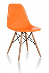 Plastična trpezarijska stolica CHARLIE MAT - Narandžasta