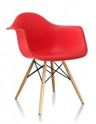 Plastična trpezarijska stolica SEM - Crvena