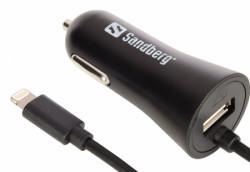 Sandberg auto punjač lightinh za iphone + usb 3.4a , sand. ( 2275 )