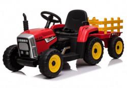 Traktor 261 sa prikolicom za decu na akumulator - Crveni