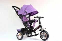 Tricikl Guralica Playtime 411 Simple sa tendom od lanenog platna - Ljubičasti