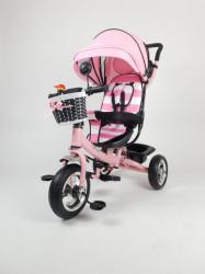 Tricikl Guralica Playtime AM 406 - Roze + Mekano sedište